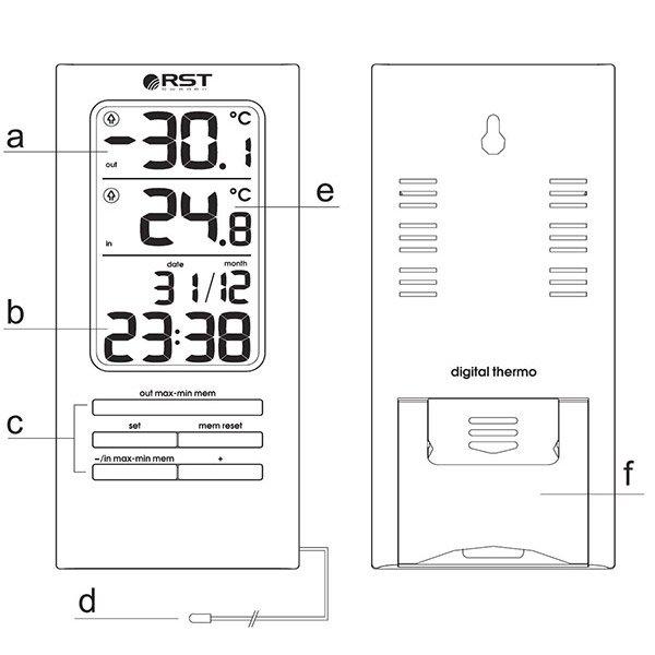 Термометр RST 02307 инструкция