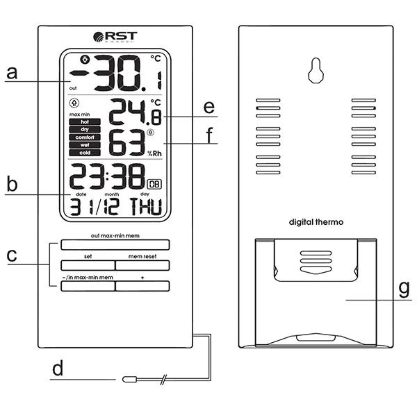 Термогигрометр RST 02310 инструкция